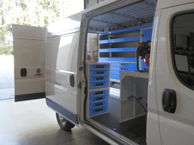 Ducato van equipments